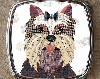 Yorkshire Terrier dog compact mirror