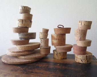 Large Cork Stoppers, Set of 21 Corks and 2 Cork Trivets, Selected sizes, Huge Lot Cork Stoppers, Storage Corks, Large Cork Collection @201