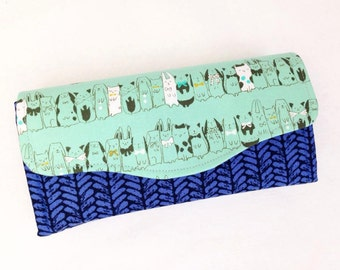 Felt, Cotton and Whimsy Luxe Wallet - Animals - Necessary Clutch Wallet