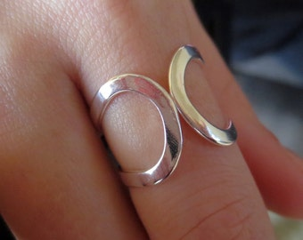 Sterling Silver Adjustable Statement Ring/Top Adjusting Ring/Minimalist Ring/Adjustable  Ring/