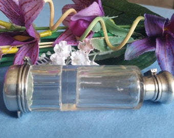 Antique Sterling Silver Double Ended Perfume/Smelling Salts Bottle