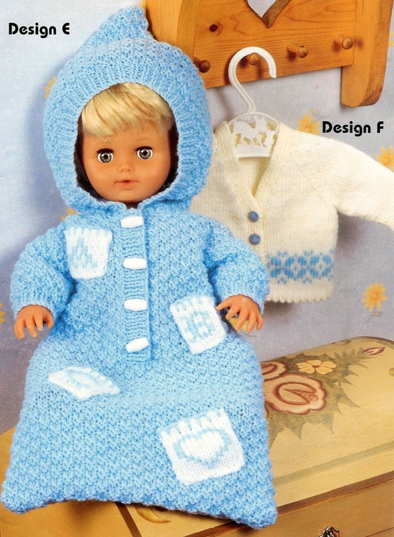 Knitting Patterns For Babies Born Asleep : Vintage knitting pattern pdf dolls clothes eight outfits