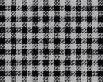 Gray and black buffalo plaid craft  vinyl sheet - HTV or Adhesive Vinyl -  lumberjack plaid HTV1805