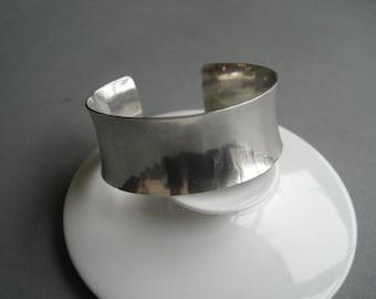 Massive vintage wide sterling silver bracelet. Sweden.