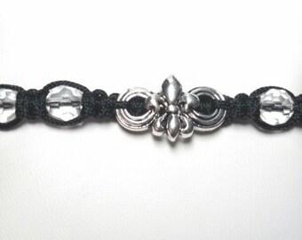 Fleur de Lis, black and silver
