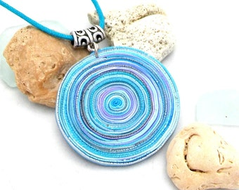 Polymer Clay Jewelry  Handmade Pendant  Necklace