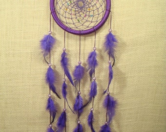 Colorful Big Size Hoop Purple Dreamcatchers / Home Decor / Wall Hanging