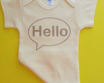 Hello Onesie /Newborn Onesie / Baby Shower Gift / New Baby Gift