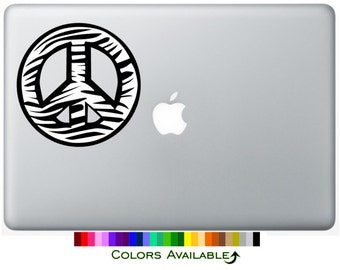 Zebra Peace Sign Laptop Decal