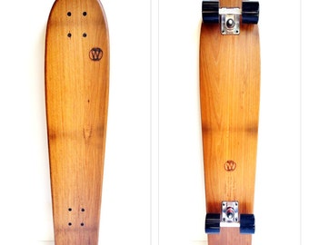 The Logger Vintage in solid sustainable Grey gum: 890mm longboard cruiser