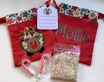 Luxury Personalised Reindeer Food Bags