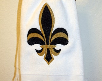 Fleur de lis black and gold