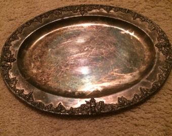 Tarnished Silver platter