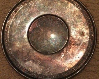 Tarnished silver plate