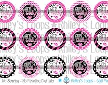 Girly Girl Pink And Black Lipstick Glitter Bottle Cap Images