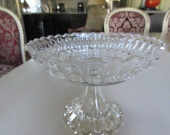 GLASS PIERCED COMPOTE