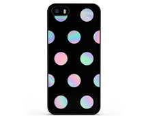 Psychedelic Iridescent Polka Dot Tie Dye Hard Case for iPhone 4, 4s, 5, 5s, 5c, 6, 6 Plus, Samsung Galaxy S3, S4, S5, S6, S6 Edge