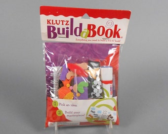 "Kids Crafts Klutz Books  Build a Book Kit 4"" by 4"" book project"