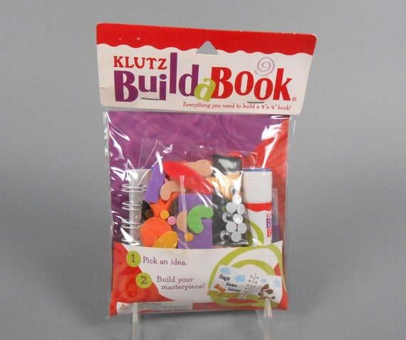 """Kids Crafts Klutz Books Build A Book Kit 4"""" By 4"""" Book"""
