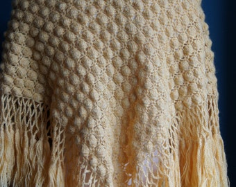 Hand knitted shawl Cape Scarf
