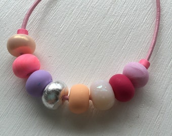 Kids necklace, Pretty in pink