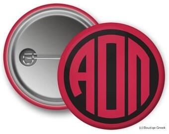 AOII Alpha Omicron Pi Monogram Sorority Button