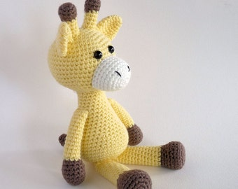 Amigurumi Giraffe, Crochet Toy Giraffe, Plush Giraffe, Crochet Animal, Amigurumi Animal, Giraffe Softie, Australian Made.