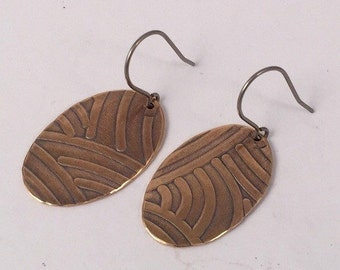 Copper Earrings, Dangle Earrings, Hypoallergenic Earrings, Minimalist Earrings, Drop Earrings, Boho Earrings, Metal Earrings