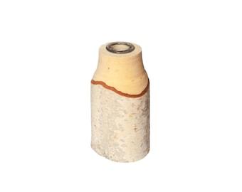 Rustic birch vase, rustic wooden vase, rustic home decor, branch vase, bud vase