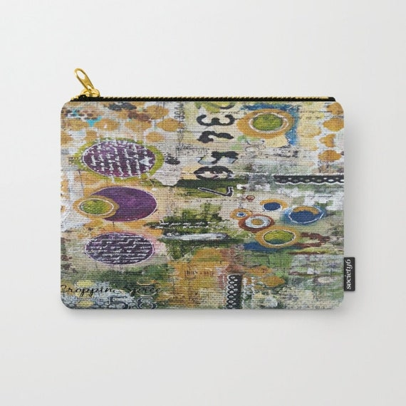 Mixed media carry-on pouch