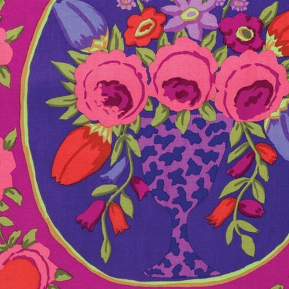 CAMEO WINE deep red GP157 Kaffe Fassett Sold Sold in 1/2 yard increments