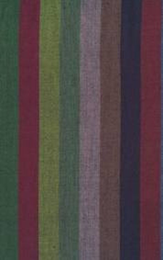 BROAD STRIPE Woven  DARK wbroad.darkx by Kaffe Fassett fabric sold in 1/2 yard increments