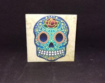 Sugar Skull (Style2) - Tile Magnets 1-3/4 x 1-3/4