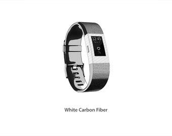 Fitbit Charge 2 wrap/decal/sticker/skin Carbon Fiber Stickerboy - Set 3
