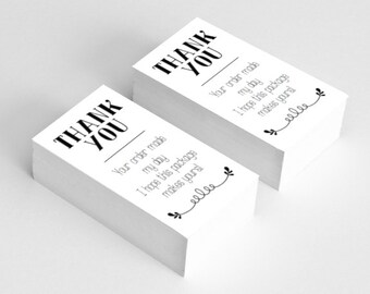 BEST SELLERS | Esty Shop Thank You Cards | 3.5x2 business cards