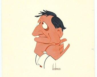 Charlie Callas original acrylic painting by Disney Artist Dave Woodman