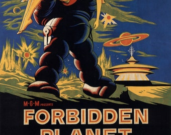 Forbidden Planet Movie Poster A3 Reprint