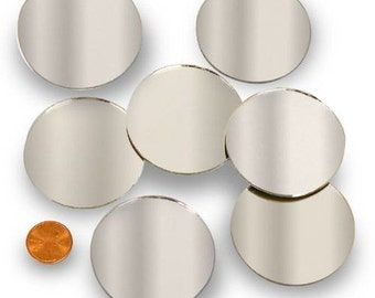 """Round 2"""" Mirror Can Be Used in Many Craft Projects & Mosaics. - FREE SHIPPING!"""