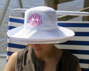 Monogrammed Beach Hat