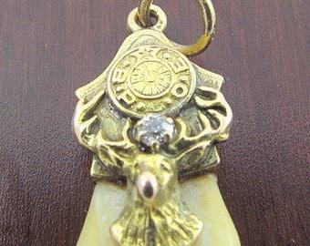 Vintage 14 kt Yellow Gold & Diamond Enamel Elks Tooth Lodge Items.