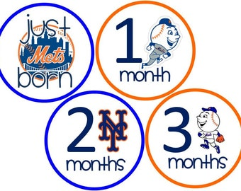 New York Mets Baby Belly Stickers