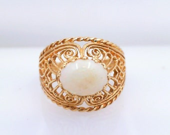 Opal Yellow Gold Ring