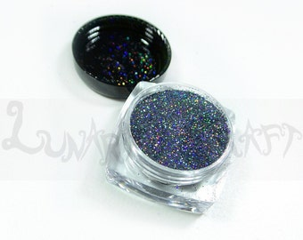 Anubis Holographic Glitter Ultra Fine .008, SOLVENT RESISTANT, resin supplies, cosmetic glitter, loose glitter, nail glitters