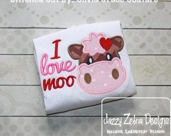 I love Moo Appliqué Design