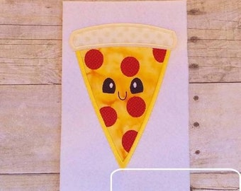 Pizza with Face Applique Design