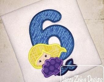 Mermaid Six Applique Design