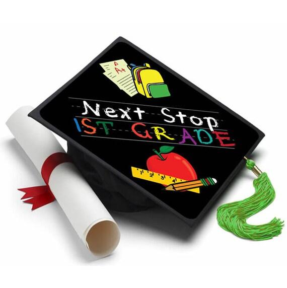 Next Stop First Grade Decorated Grad Cap Decorating Kit
