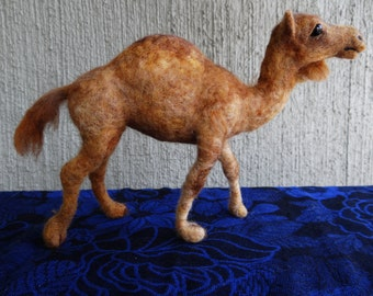 Dromedary Camel Needle Felted Wool Animal by Carol Rossi Created Just For You!