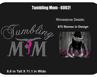 Tumbling Mom Rhinestone Bling Shirt