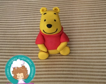 Winnie the Pooh inspired fondant cake topper